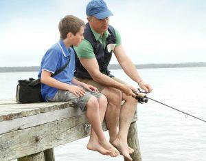 padre+e+hijo+pescando