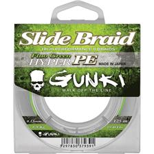 GUNKI-slide braid 125 fluo green